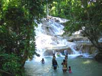 Dunns' River falls for cruise ship passengers