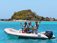St Thomas mini boat charters