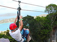St Thomas zipline excursions