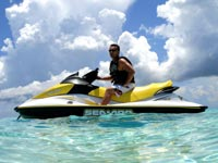 wave runner at stingray city sandbar cayman